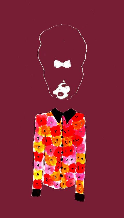Flower shirt girl fashion illustration