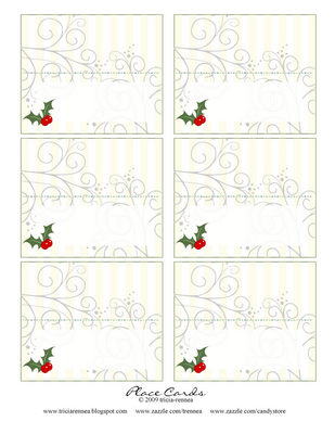 Treat Cards Or Place Gift Idea Simply Print Fold And Customize With A