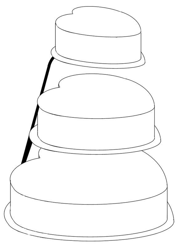 planning template for heart shaped cakes | Cake Templates | Pinterest