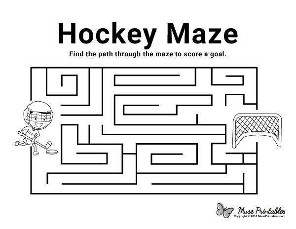 Free Printable Hockey Maze Download It At Https Museprintables Com Printable Activities For Kids Upper And Lowercase Letters Easter Coloring Pages Printable