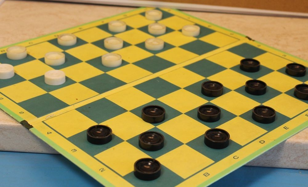 Chess checkers USSR Latvia vintage cardboard board souvenir gift #USSR
