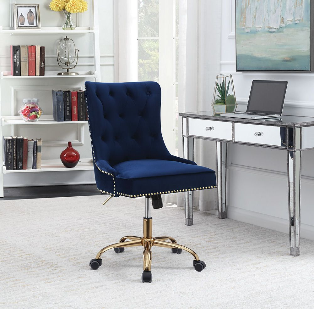 Cs984 Office Chair 801984 Coaster Furniture Office Chairs In 2020 Velvet Office Chair Home Office Chairs Furniture