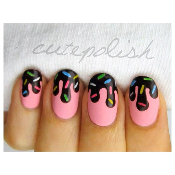 8 Ice Cream Nail Designs For The Coolest Summer Ever ❤ liked on ...