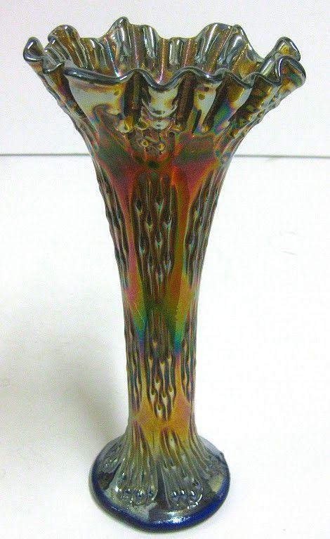 Fenton Vase Carnival Glass Vintage Fenton Glassware Collection