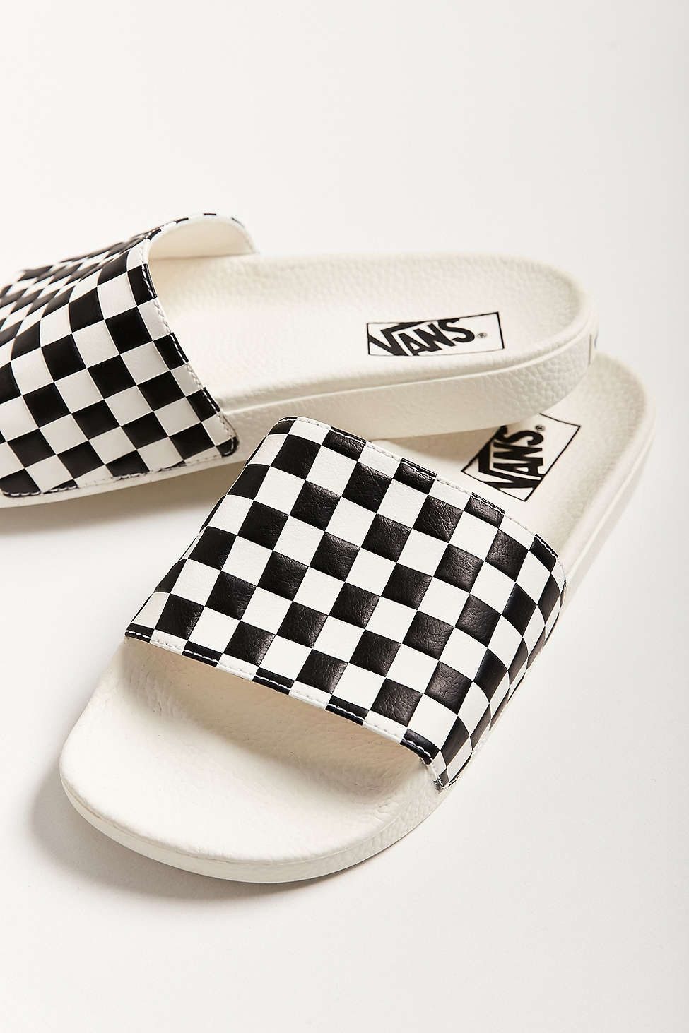7c3feae13b Vans Checkerboard Pool Slide - Urban Outfitters