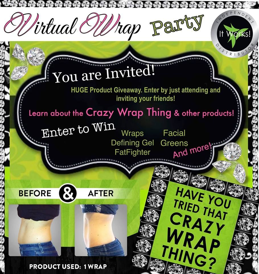 I Am Having An Online Wrap Party Tomorrow At 9 30 P M Est On Facebook The Link Is Posted Below If You Ar It Works Party It Works Wraps Party Invite Template