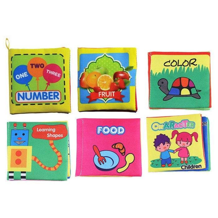 Baby Fabric Books Picture Recognition Intelligence Toy - 6pcs / set Baby Fabric Books Picture Recognition Intelligence Toy - 6pcs / set ,