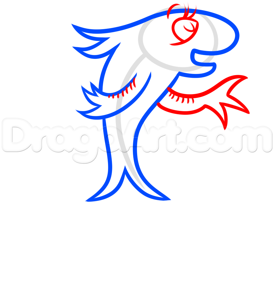 how to draw the fish from dr seuss step 4 | Dr. Seuss | Pinterest