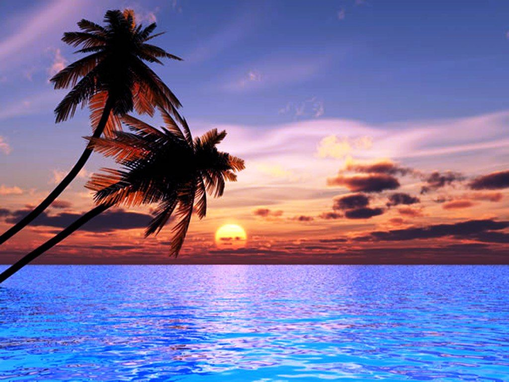 beautiful beach sunset places