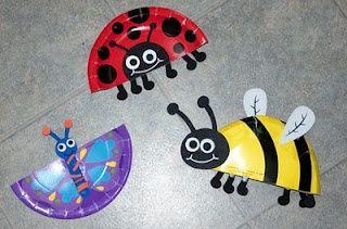 Simple Paper Plate Craft Basteln Fruhling Kinder Bastelarbeiten Bastelideen