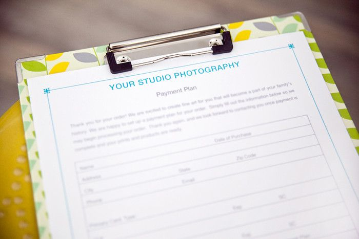 Payment Plan Form - Studio Forms and Legal Contract Templates for - contract templates