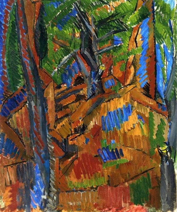 Raoul Dufy (1877-1953) – Trees, 1913 - Private collection - oil on canvas, 73 x 60 cm