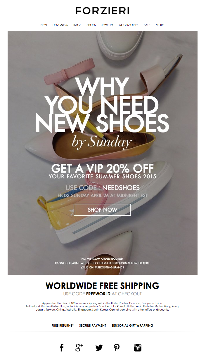 Final Hours! Why you Need New Shoes by Sunday | Mailings | Pinterest ...