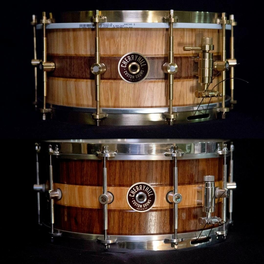 Bateria Musica Porno cherry hill custom drums matching opposite stave snare drums