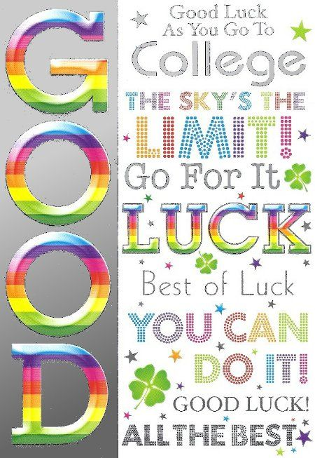Pin By Tricia Daljitsingh Khan On Quotes Good Luck Cards