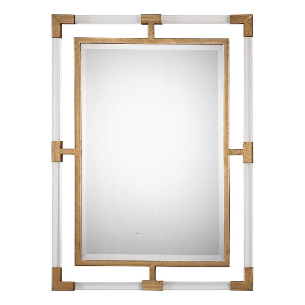 Uttermost Bathroom Sconces uttermost balkan modern gold wall mirror   mirrors   pinterest