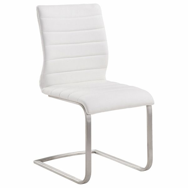 Fusion Contemporary Side Chair Set Of 2 Contemporary Side Chair Fabric Dining Chairs Side Chairs