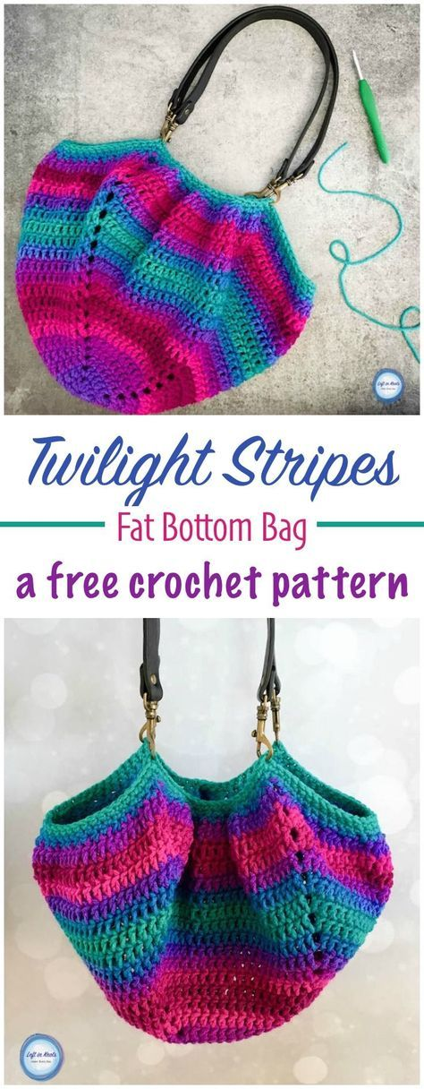 Twilight Stripes Fat Bottom Bag Pinterest Free Crochet Fat And