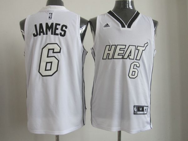 lebron james all white heat jersey