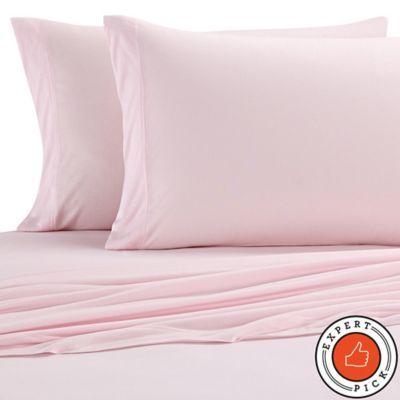 Pure Beech Jersey Knit Modal Pillowcases Set Of 2 Pink Sheets