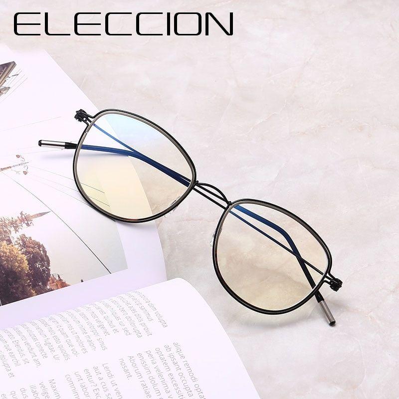 25392e69e1 ELECCION 2018 NEW Ultralig Screwless Round Glasses Frame For Men s Fashion  Optical Eyeglasses frames For Women Computer Glasses Review