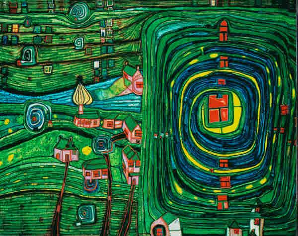 Visionary Artist And Architect Hundertwasser Hundertwasser Hundertwasser Bilder Hundertwasserhaus