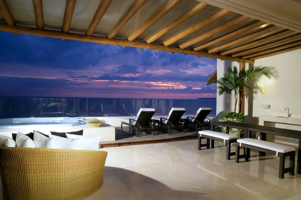 The amazing terrace of some of our suites at Grand Velas Riviera