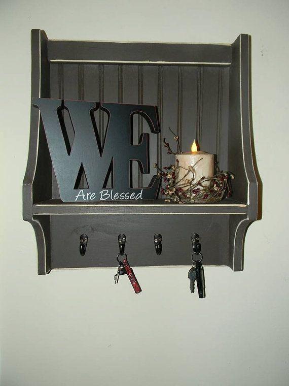 Beau Primitive Key Holder Wall Cabinet | Primitive Key Chain Shelf;Key Chain  Holder; Kitchen