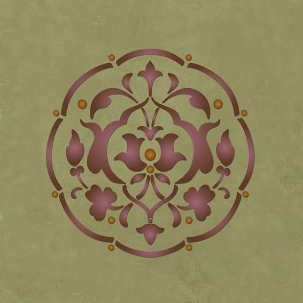 Turkish And Middle Eastern Medallion Wall Art Stencil For
