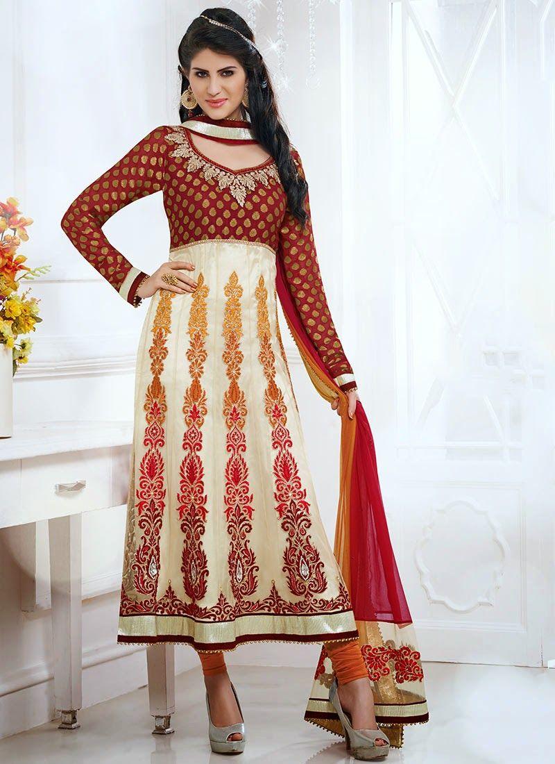 Best wedding dresses karachi  alluringcreamnetkalidarsuitslsmv  Indian u Fashion  Pinterest