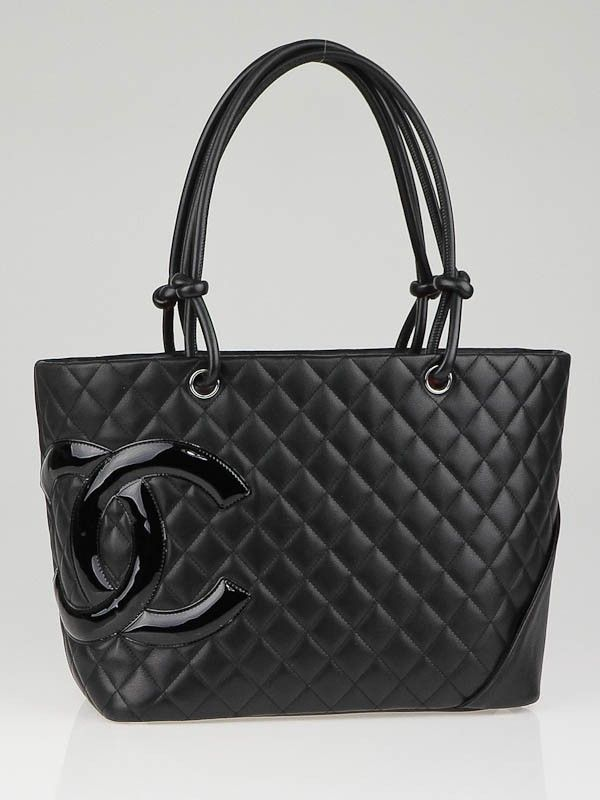45d9742bb1f1 Chanel Black Quilted Leather Ligne Cambon Large Tote Bag | Chanel in ...
