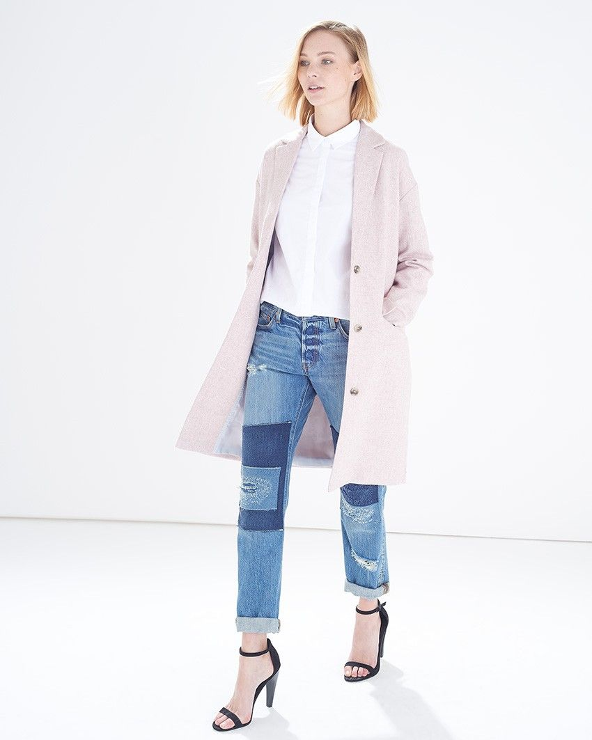 Light pink philly ls coat atterley road cloth u style