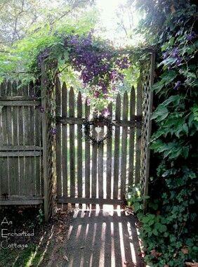 Lavender cottage gate