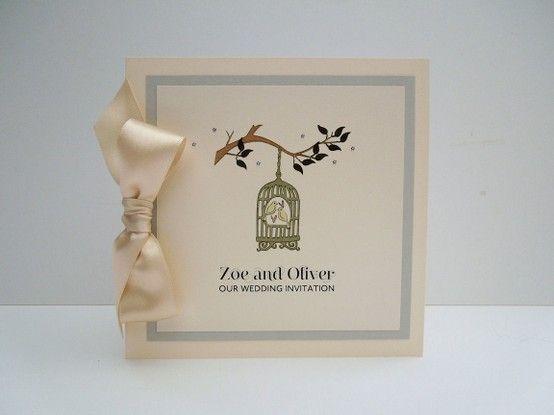 Birdcage style wedding invitations