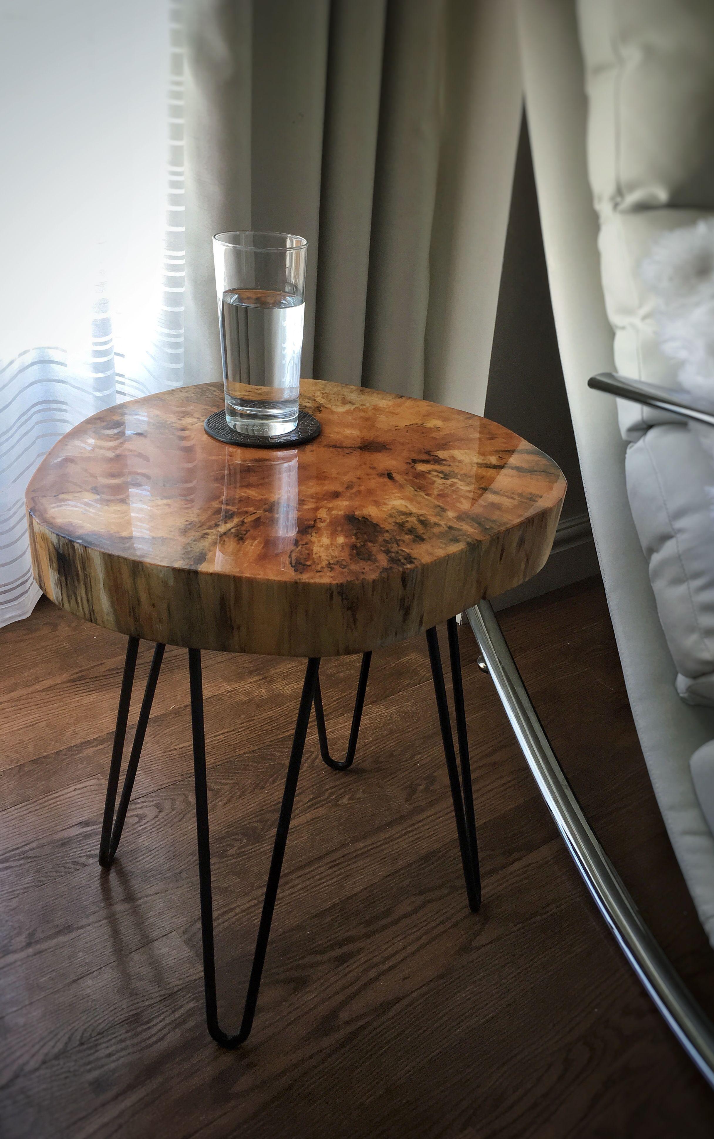 table d appoint en rondin table wood