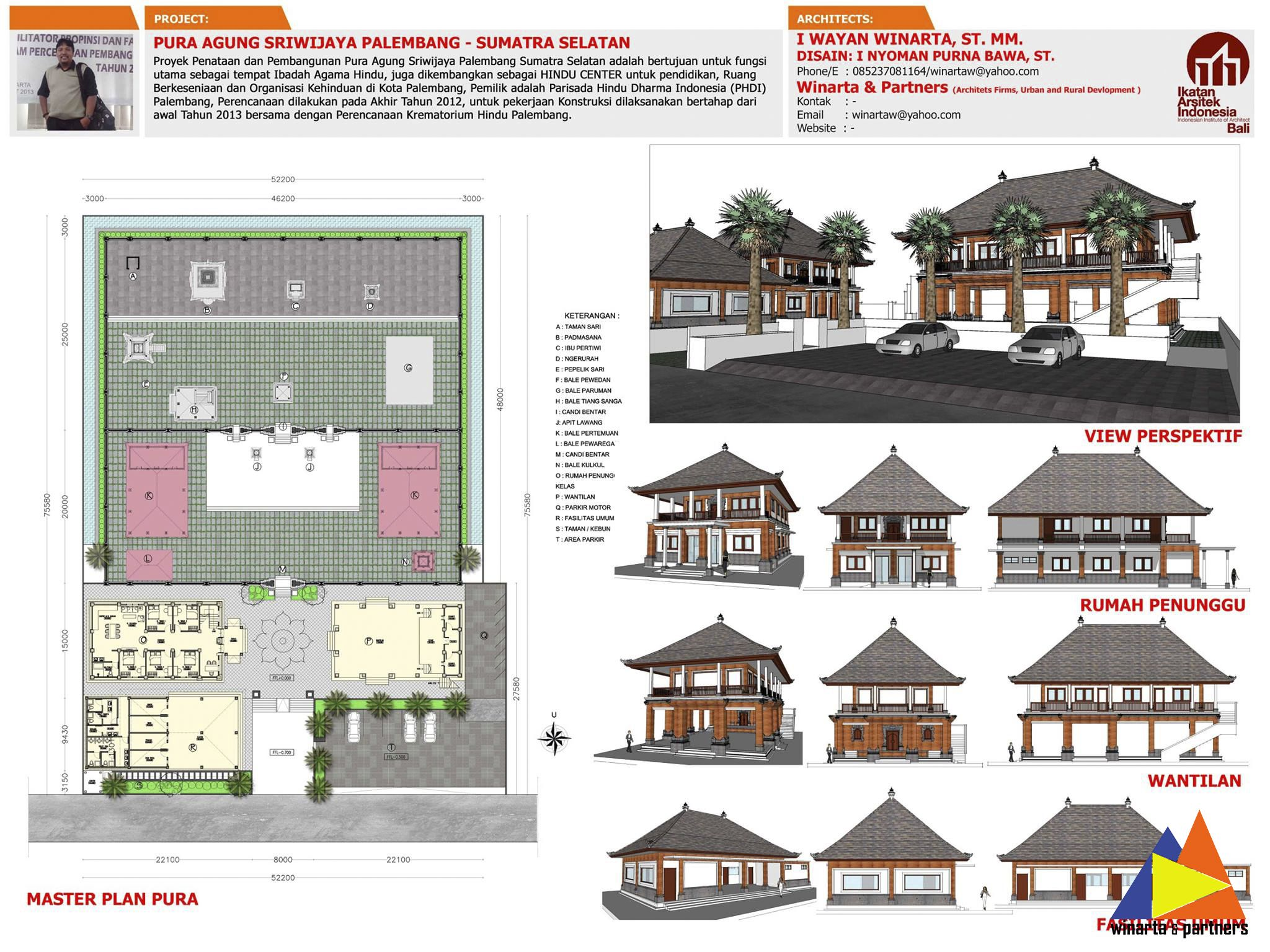 Proyek Penataan dan Pembangun Pura Agung Sriwijaya