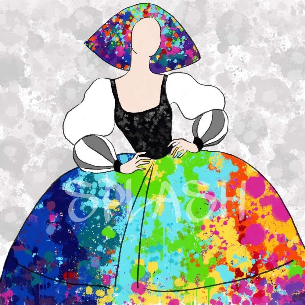 Cuadros modernos decorativos meninas modernas abstractos for Cuadros meninas modernas