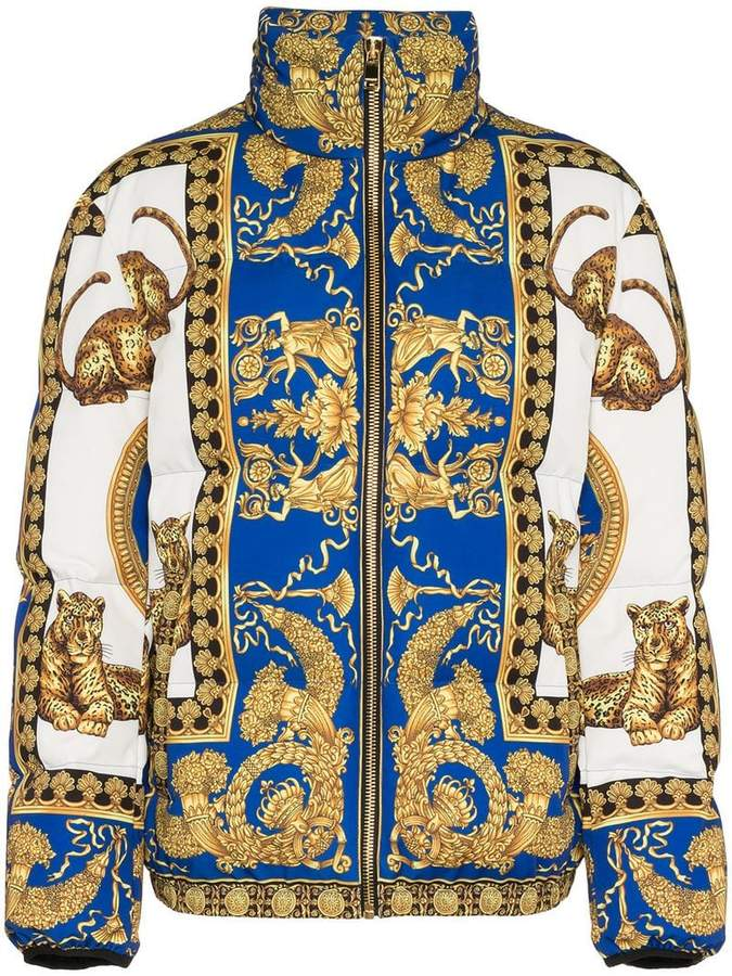 Versace Signature Dea feather down puffer jacket | Designer