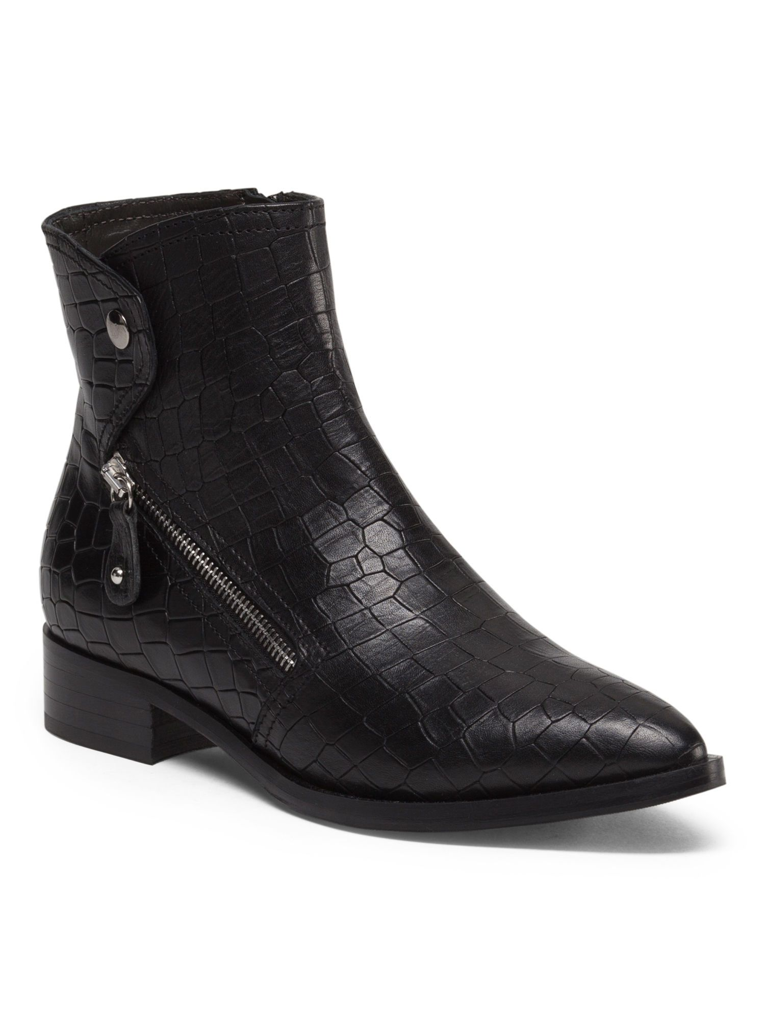 22f152259f23 NAPOLEONI Made In Italy Leather Snake Embossed Bootie  99.99   TJ ...