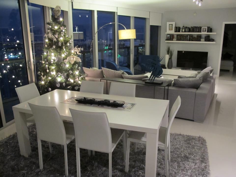 Living Dining Room In Miamis Icon Brickell Condos Furnished By BoConcept Tampa