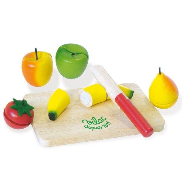 Fruits et légumes en bois à découper Vilac