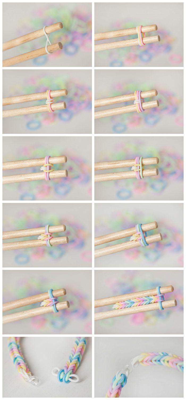 Azucarillos De Colores Pulseras De Gomas Versión Pastel Adc Pulseras De Gomitas Pulseras De Ligas Cómo Hacer Pulseras