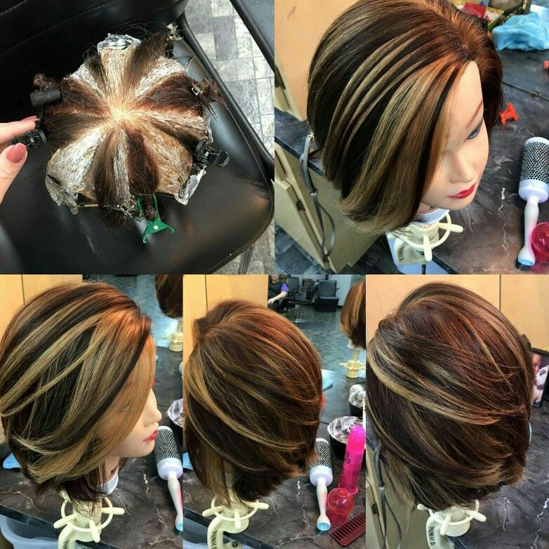 Pinwheel hair color technique http://fodraszinfo.com/portal ...