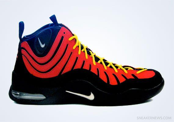 Nike Air Worm Ndestrukt Black White-Varsity Red - Dennis Rodman  2e8296f81
