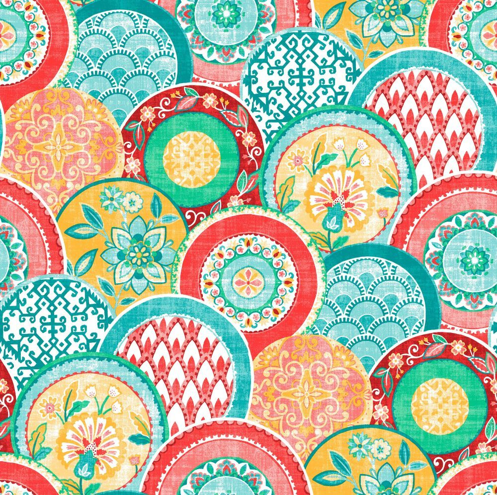 Laguna Red/ Teal wallpaper by Albany | Wallpaper | Pinterest | Teal ...