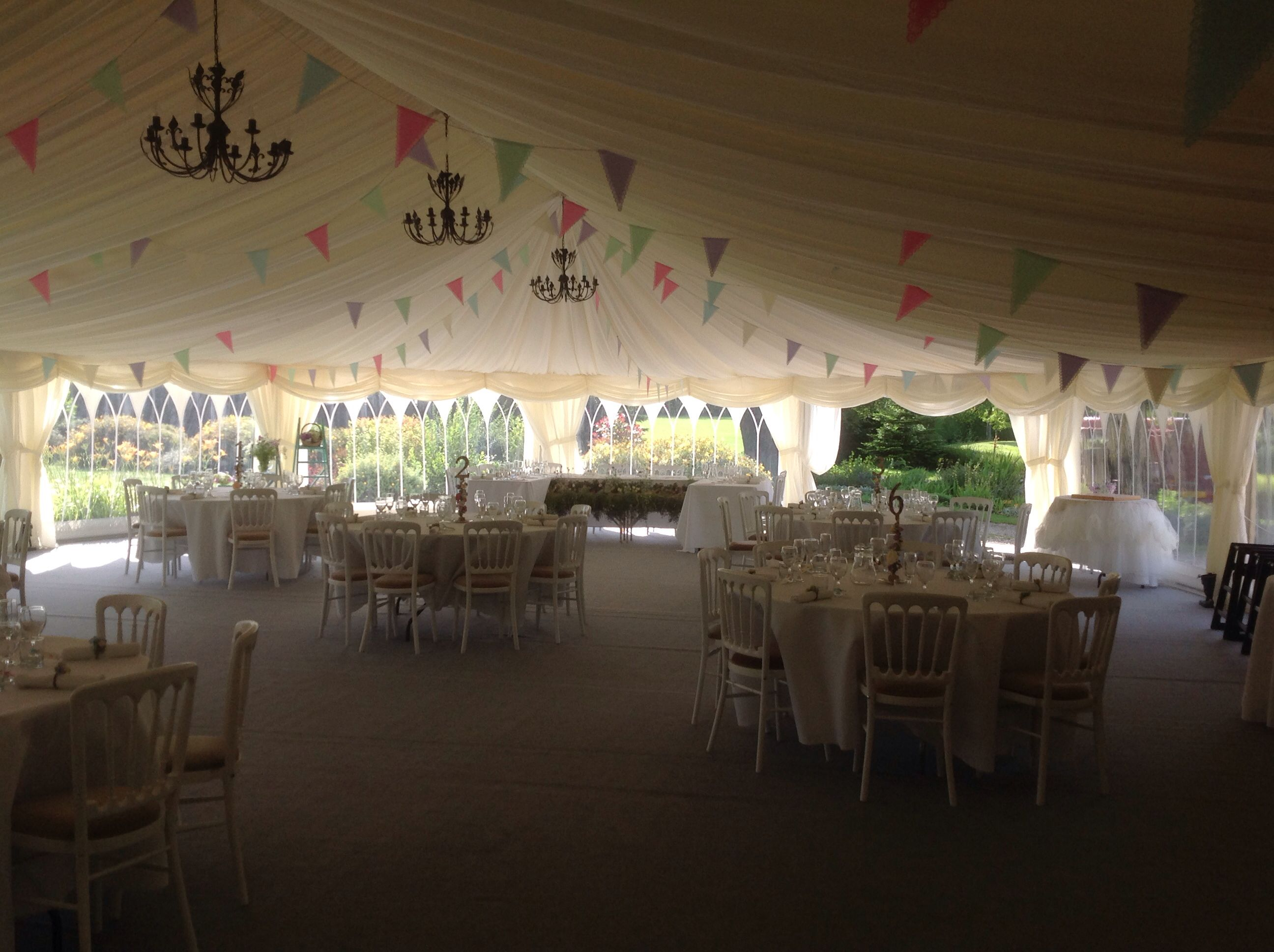 Hand made paper bunting. Choose darker shades for impact