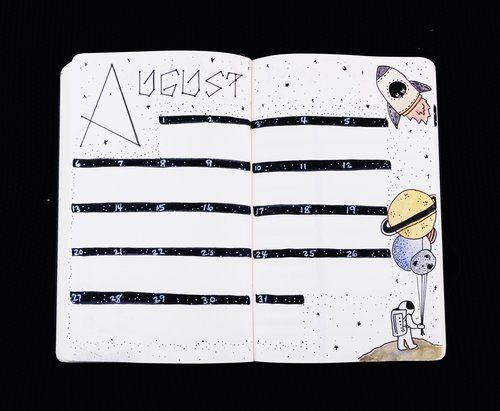 Plan With Me in my Bullet Journal: August 2017 #augustbulletjournal