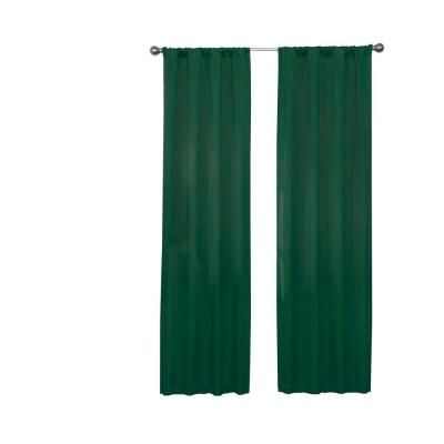 Eclipse Darrell Blackout Window Curtain Panel In Emerald 37 In