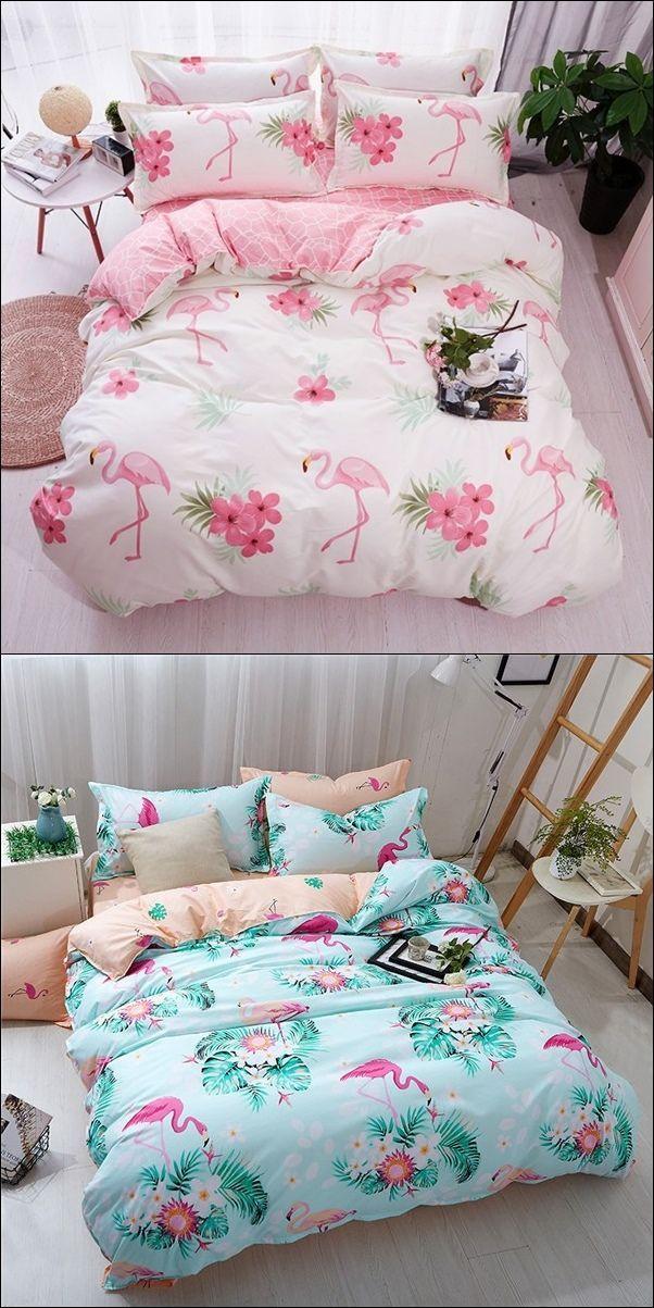 Best Pink Flamingo Luxury Duvet Cover Bedding Set Luxury 400 x 300