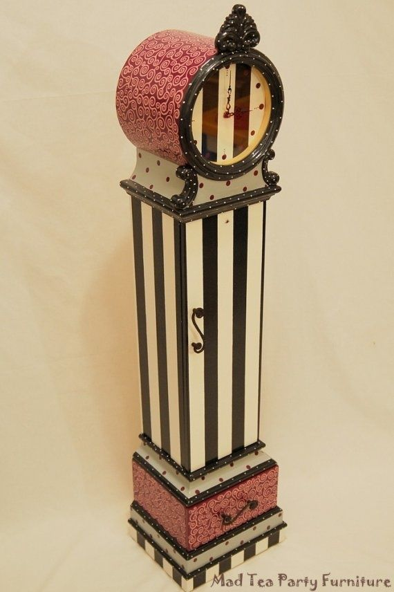 Quot Hand Painted Quot Grandfather Clock Hand Painted Floor